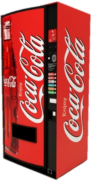 Coca Cola Ice Cold Can Drink Vending Machine