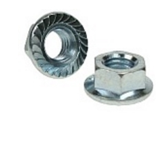 M5 Serrated Flanged Full Nuts. 8mm Spanner Size (500 Pack)
