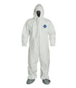 Dupont Tyvek Hooded White Coverall