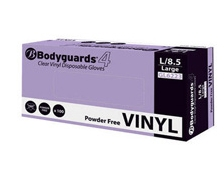 Bodyguard Clear Vinyl P/Free Gloves AQL 4.0 - Crate (10 x Box 100)