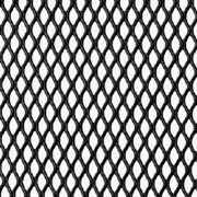 Decorative Expanded Steel Grille Mesh - Black Powder Coated