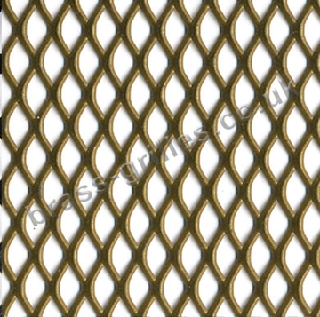 Expanded Steel Grille Mesh - Gold Powder Coated