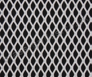 Expanded Steel Grille Mesh - White Powder Coated