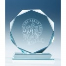 Personalised Jade Glass Facetted Octagon Award