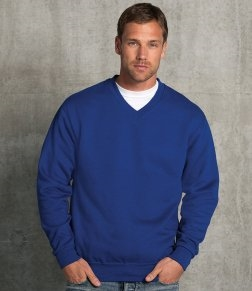 Embroidered Russell V Neck Sweatshirt