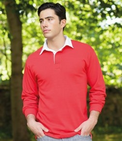 Embroidered Front Row Classic Rugby Shirt