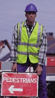 KNITTED POLYESTER HI - VIS CLASS 2 VEST