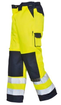 Contrast Poly/Cotton Hi Vis Trousers From Essencial Safety Wear