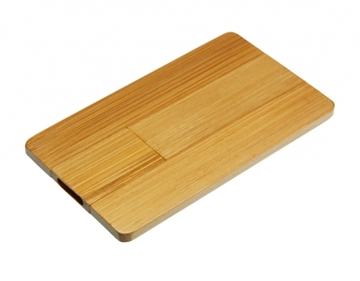 Eco-Friendly USB Bamboo Wood Card Drive Supplier