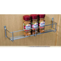 1 tier spice and packet rack, 400 mm hole centres