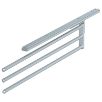 pull out kitchen towel rail holder 3 arm, silver effect metal