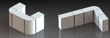 Folding Display Counters