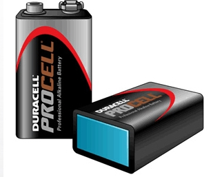 Duracell Procell Size 9V / MN1604 Pack Of 10 Batteries
