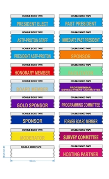Moderator Ribbons for meetings and events