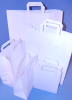 Paper Carrier Bags - White