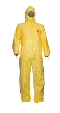 TYCHEM C HOODED COVERALL WITH SOCKS
