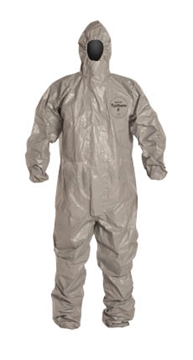 TYCHEM F HOODED COVERALL WITH SOCKS