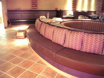 Cushioned Night Club Bench Seating