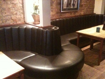 Curved Fluted Pub Bench Seating