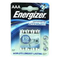Energizer Ultimate Lithium AAA / L92 Batteries Pack of 4