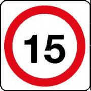 15 mph Signs