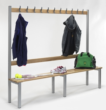 Changing Room Bench with Coat Hooks
