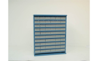 45 Drawer Cabinet without doors - Blue Body - H1070 x W895 x D460mm