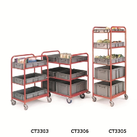 3 and 5 Shelf Container Trolleys