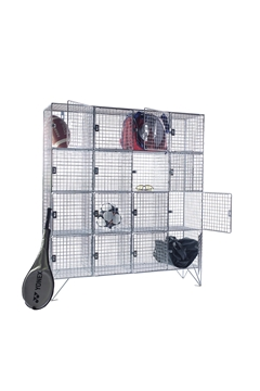 16 Compartment Wire Mesh Lockers With Doors