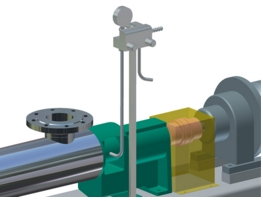 Pressure flush for double-acting mechanical seal