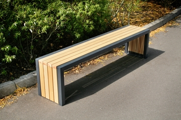 Langley Steel Framed Timber Bench Seat