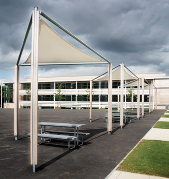 Freestanding Solar Shading Shelter