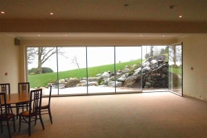Bifolding glass doors