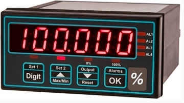 Digital panel meters for use with load cells