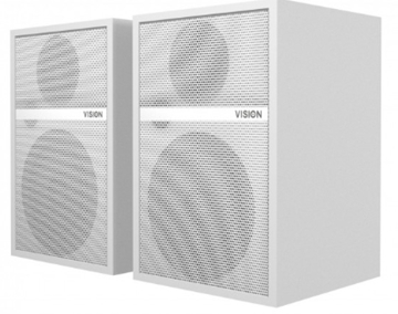 Vision SP-1700 Pair of white Wall Speakers