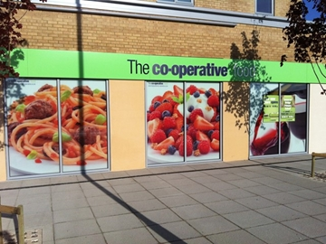 Outdoor retail signage