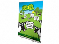 Banner Stands In Burton Upon Trent In Chester