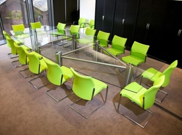 Dual Ultimate Glass Boardroom Table