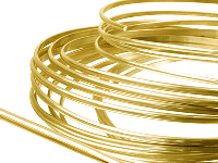 9ct DF Yellow D Wire 4.00mm X 1.3mm