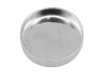 Sterling Silver Round Bezel Cup, 20mm - Sterling Silver Findings