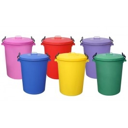 Coloured Garden Waste and Dustbins (110 Ltr)