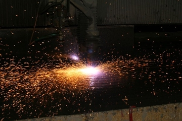 30mm Thick Stainless Steel Plasma Cutting