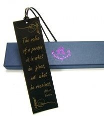 Quality Leather Bookmark - Value of a Person (script)