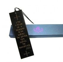 Quality Leather Bookmark - Value of a Person (Viking)
