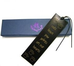 Quality Leather Bookmark - Cats Leave Paw Prints