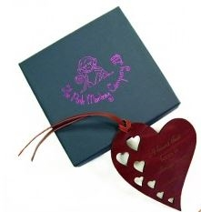 Quality Leather Heart Bookmark - A Heart That Loves