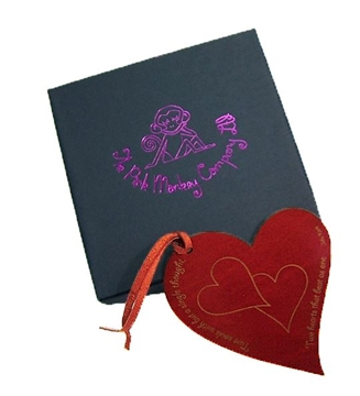 Quality Leather Heart Bookmark - Two Souls