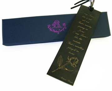 Quality Leather Bookmark - Red Red Rose