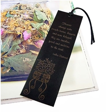Quality Leather Flower Bookmark - Flowers for the Soul