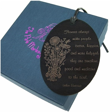 Quality Leather Floral Bookmark - Flowers for the Soul Oval